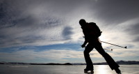На озере Байкал прошли гонки на коньках, велосипедах и лыжах