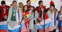 Шары и цветы: героям Олимпиады в Москве устроили теплый прием