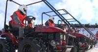 В Беларуси поддержали олимпийцев тракторным биатлоном