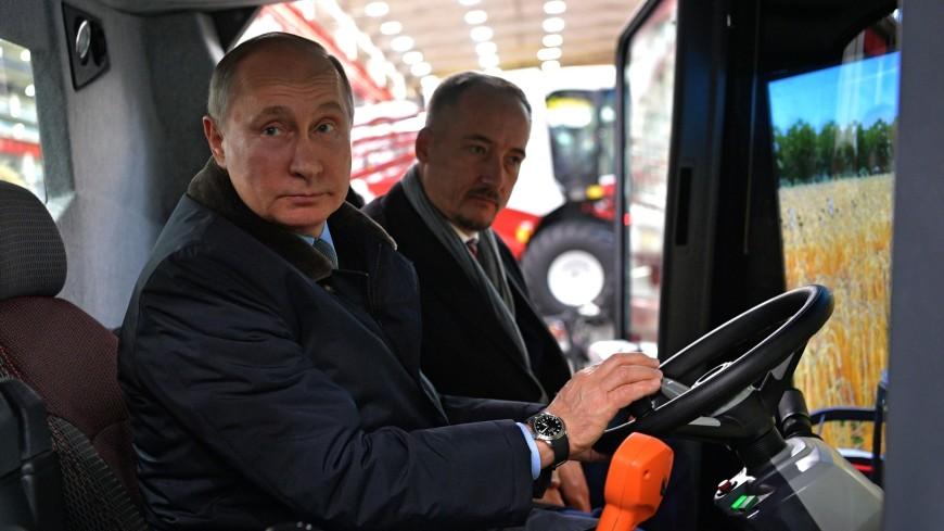 Путин пошутил об уходе в комбайнеры после выборов