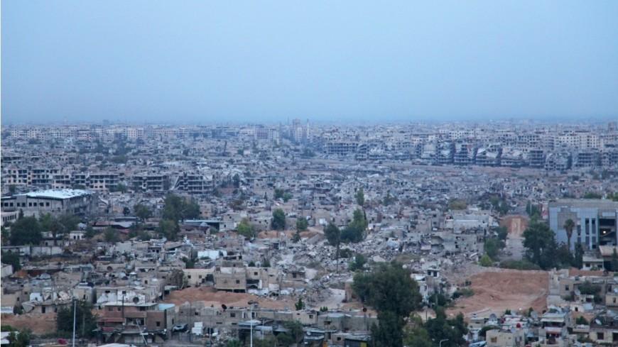 """""""Фото: Сергей Любавин, «МИР 24»"""":http://mir24.tv/, панорама, сирия, война в сирии, повседневная жизнь в сирии, разрушения, взрывы, сирийский город, вооружение, боевые действия, армия в сирии, город"""