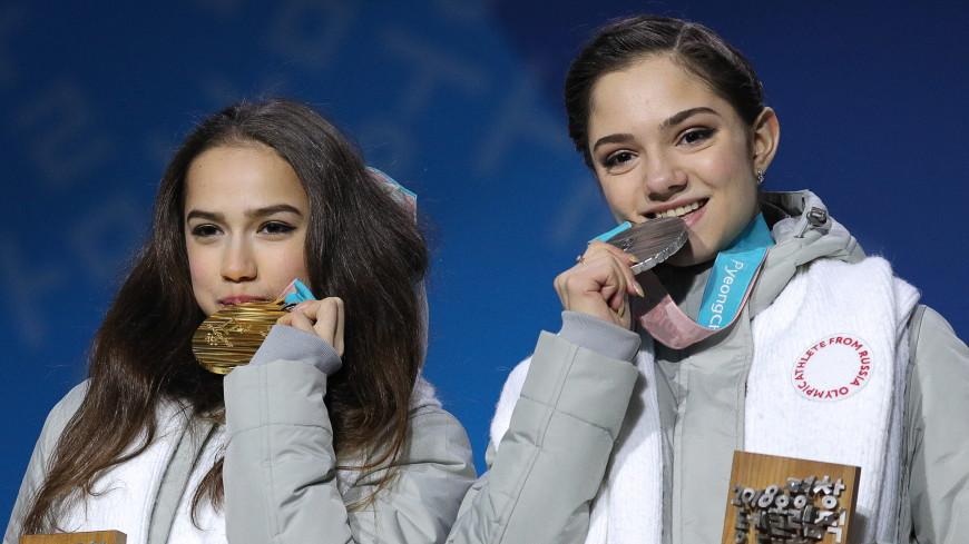 Путин поздравил Загитову и Медведеву с медалями Олимпиады