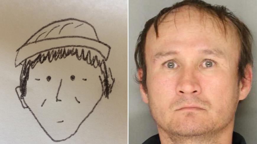 Примитивный рисунок позволил полиции задержать грабителя