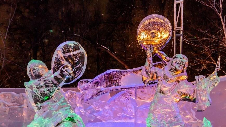 В России поздравления с Днем защитника Отечества появятся на льду
