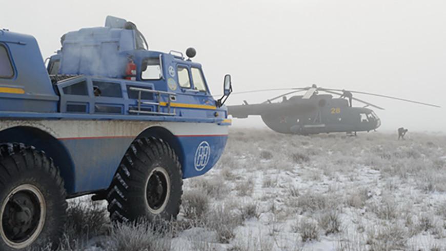 Военные выехали в предполагаемые районы приземления экипажа МКС