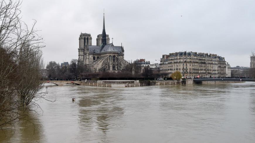 Потоп в Париже: на статую зуава надели спасательный жилет