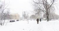 Алматы занесло снегом
