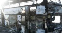 Названа причина возгорания автобуса на трассе в Казахстане