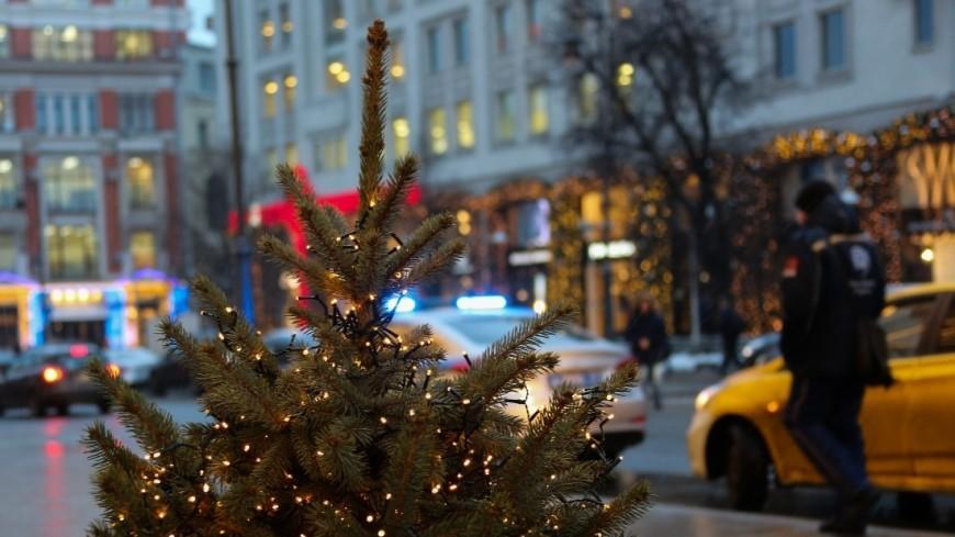 Москва готовится к встрече Нового года 2018