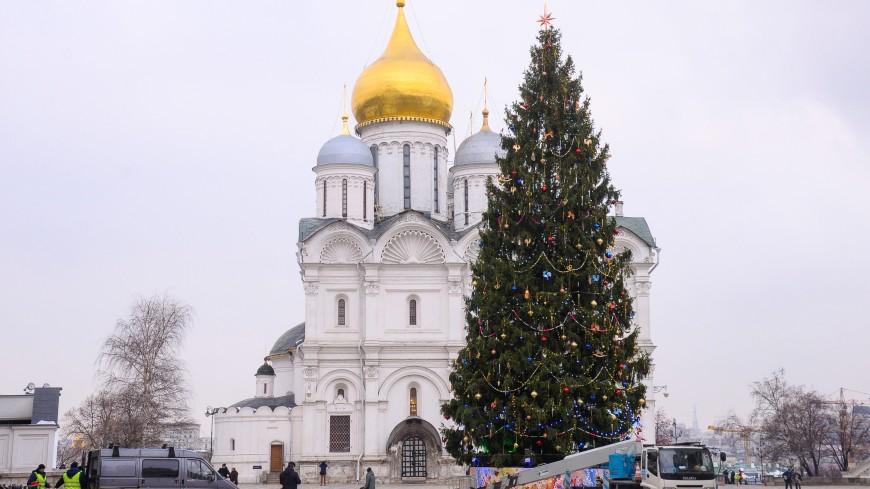 Главную елку России демонтируют после Крещения