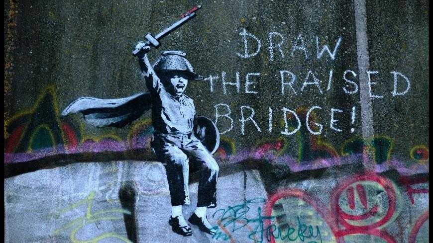Британский мойщик окон отреставрировал граффити Бэнкси