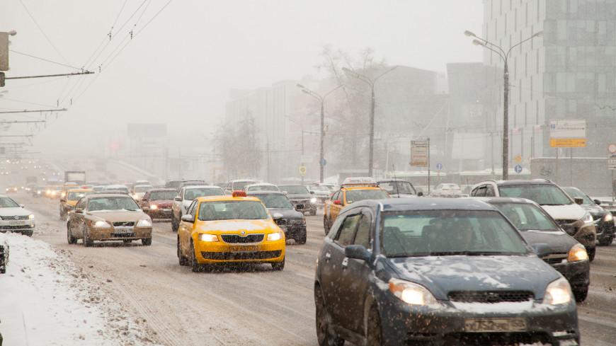 Московских водителей предупредили о сильном снегопаде