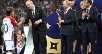 Церемония награждения победителей чемпионата мира по футболу 2018 года.