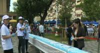 Сладкий подарок: кондитеры Алматы испекли на юбилей Астаны торт-гигант