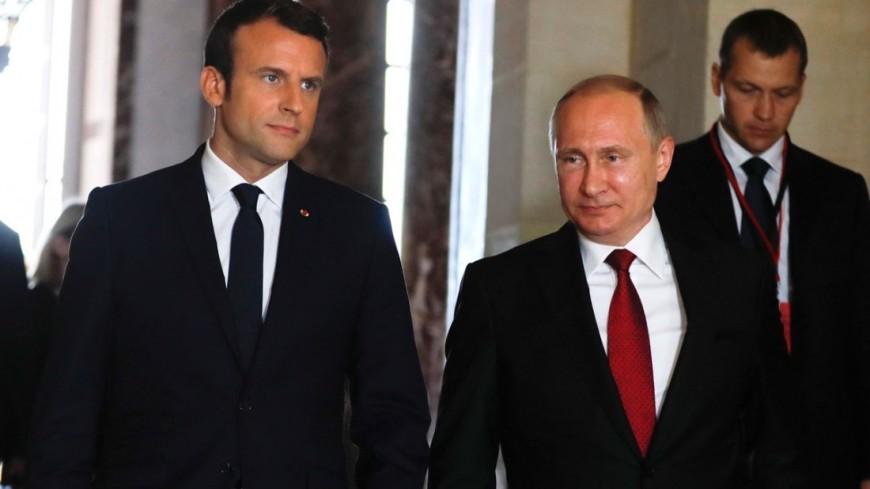 """Фото: """"Пресс-служба президента России"""":http://kremlin.ru/, путин и макрон"""