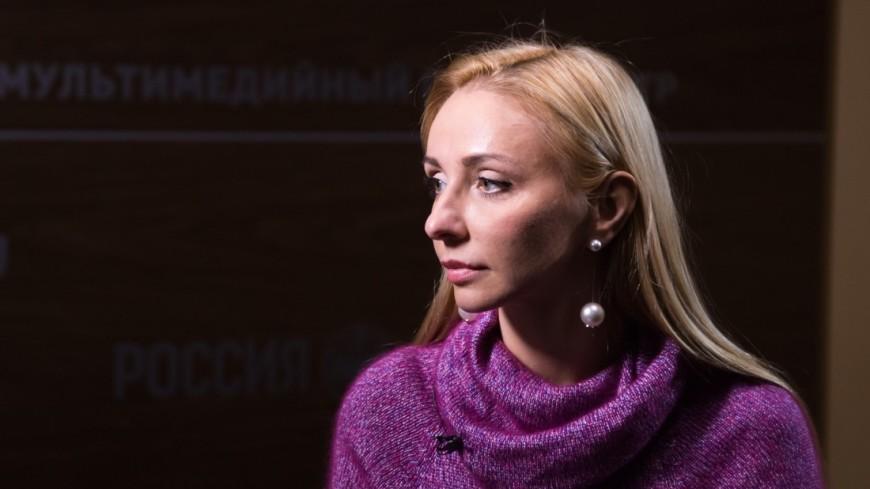 Татьяна Навка дала интервью телеканлу Мир