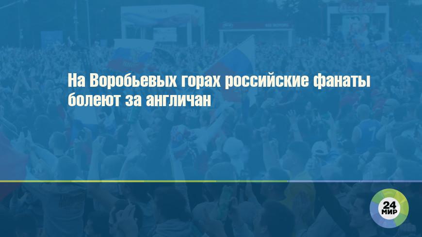 На Воробьевых горах российские фанаты болеют за англичан