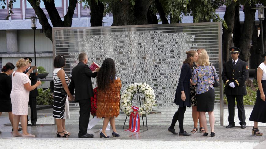 В Осло открыли памятник жертвам Брейвика