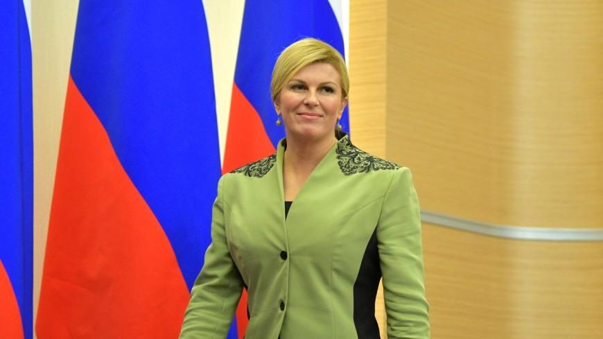 Президент Хорватии прилетела на матч в Сочи обычным рейсом