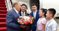 Назарбаев прибыл в Циндао для участия в саммите ШОС