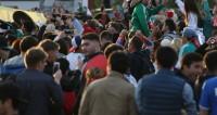 Фан-зона на Воробьевых горах смотрит второй тайм матча Россия – Хорватия