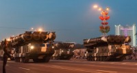 По центру Минска прошла военная техника