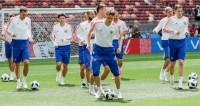 За день до мундиаля: сборная Россия провела заключительную тренировку