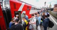 Первый бесплатный поезд с болельщиками отправился из Москвы в Адлер