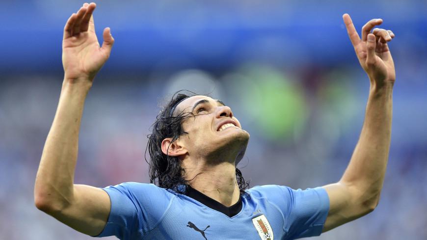 Форвард Уругвая Кавани открыл счет в матче против Португалии
