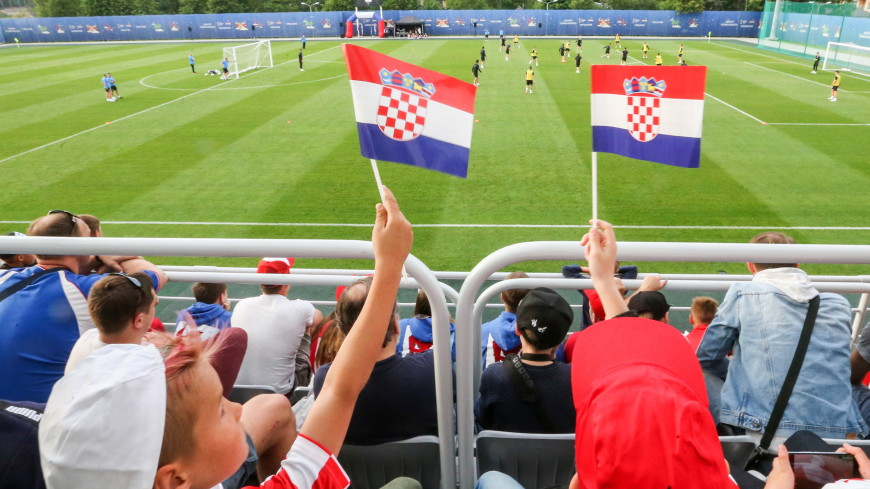 В первой тренировке сборной Хорватии в России участвовали дети