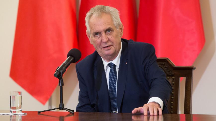 Президент Чехии торжественно сжег огромные красные трусы
