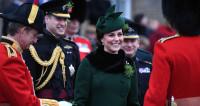 Принц Уильям и Кейт Миддлтон пришли на парад в честь святого Патрика