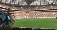 Бразильские футболисты опробовали поле в «Лужниках»