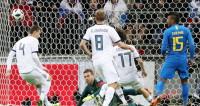 Начался товарищеский футбольный матч между Россией и Бразилией
