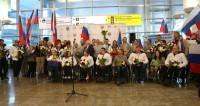 Героев Паралимпиады встретили в Москве гимном и цветами