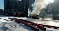 Полицейская машина сгорела напротив Мосгорсуда