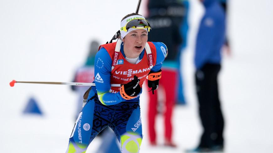 На этапе Кубка мира по биатлону спринт выиграла Домрачева