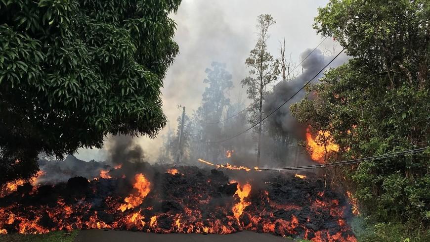 Земля на Гавайях начала гореть синим пламенем