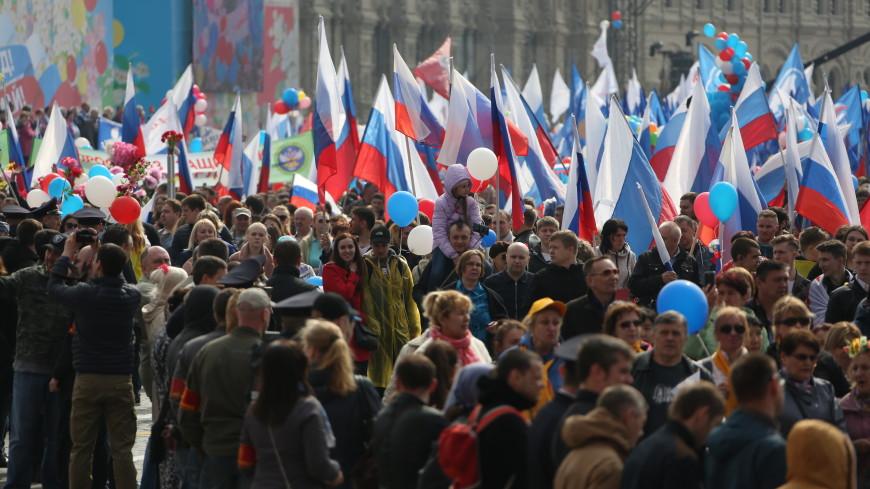 В первомайских гуляньях приняли участие 1,5 млн москвичей