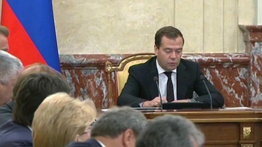 Большинство россиян одобрили работу правительства Медведева