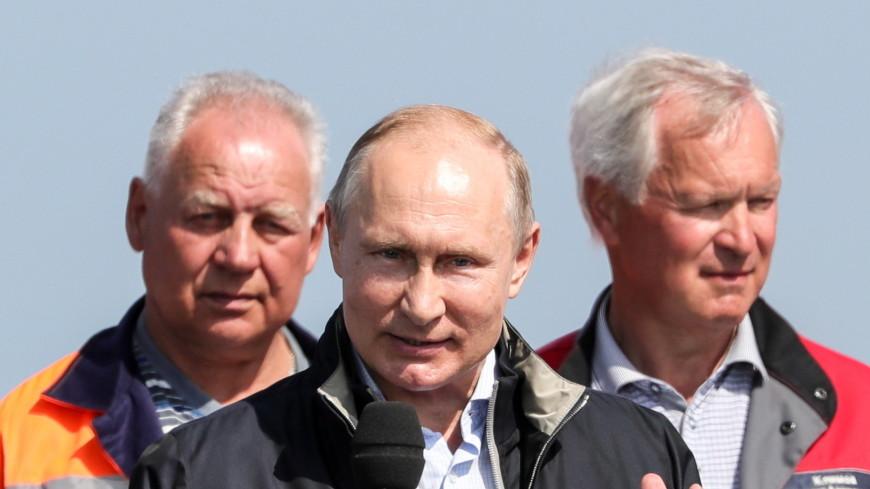 Удобно, шикарно, долговечно: Путин оценил покрытие Крымского моста