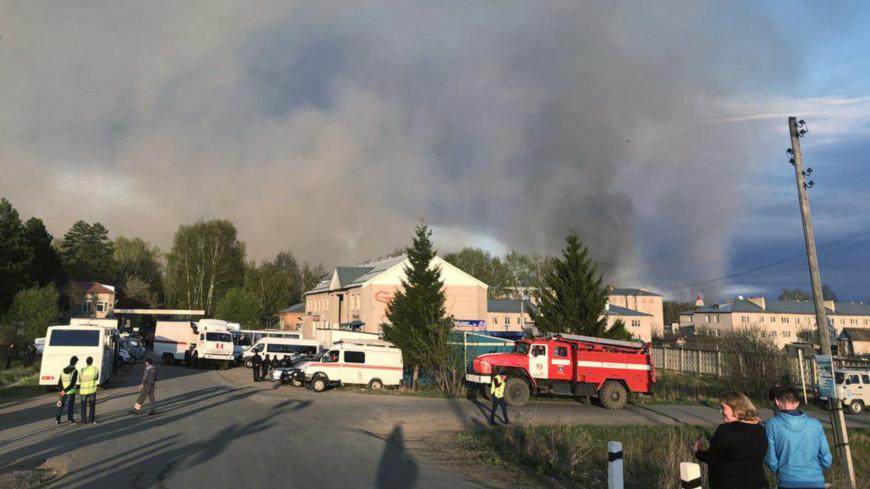 На пожар в удмуртском Пугачево спасатели вылили около 400 тонн воды