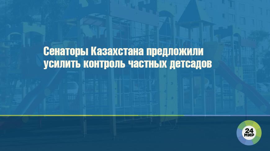 Сенаторы Казахстана предложили усилить контроль частных детсадов