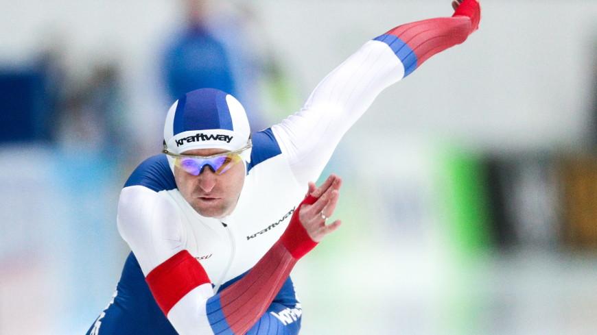 Российские конькобежцы выиграли командный спринт на этапе КМ