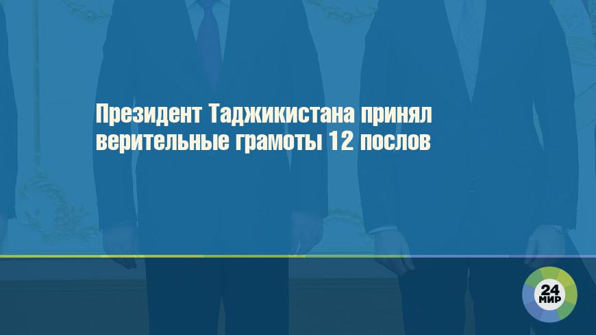Президент Таджикистана принял верительные грамоты 12 послов