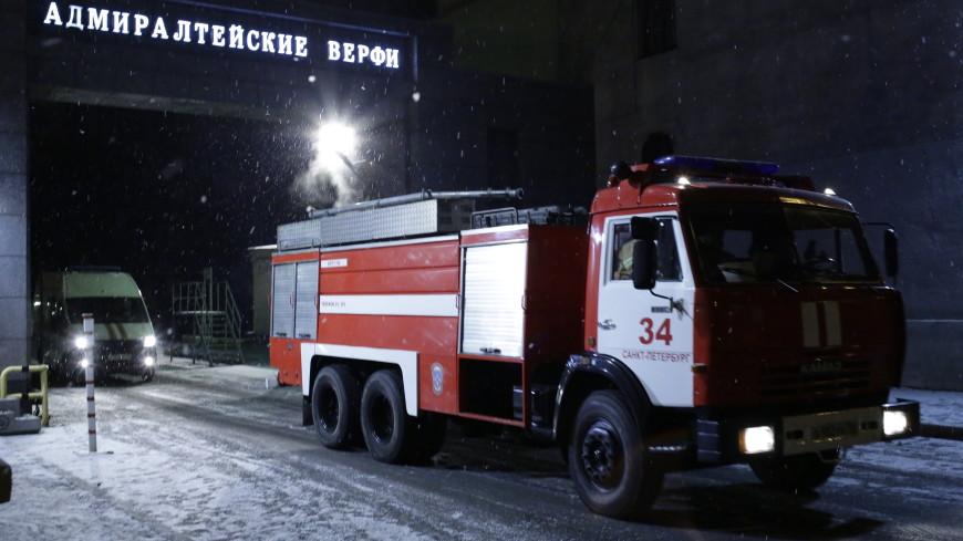 Пожар на ледоколе «Виктор Черномырдин» в Петербурге потушен