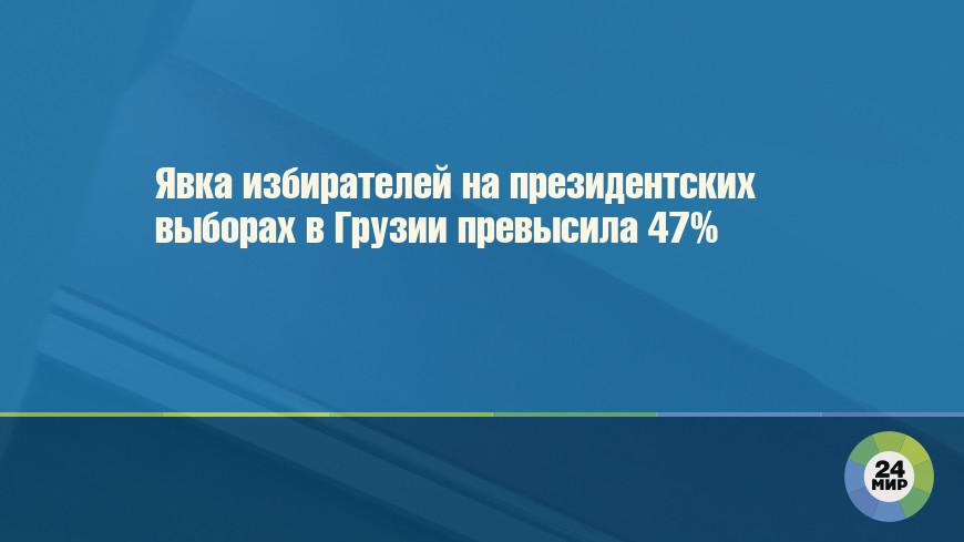 Явка избирателей на президентских выборах в Грузии превысила 47%