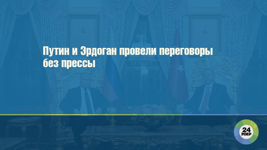 Путин и Эрдоган провели переговоры без прессы