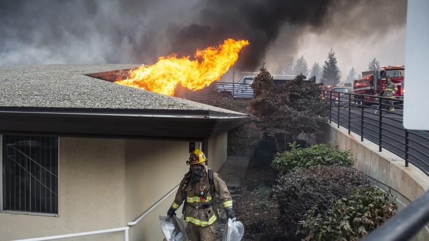 Огонь летел через дорогу: город в Калифорнии полностью эвакуировали