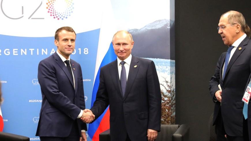 Путин и Макрон обсудили ситуацию в Сирии и на Украине